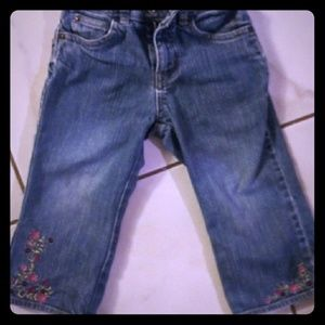 Adorable Gap Jeans with Floral embroidery!